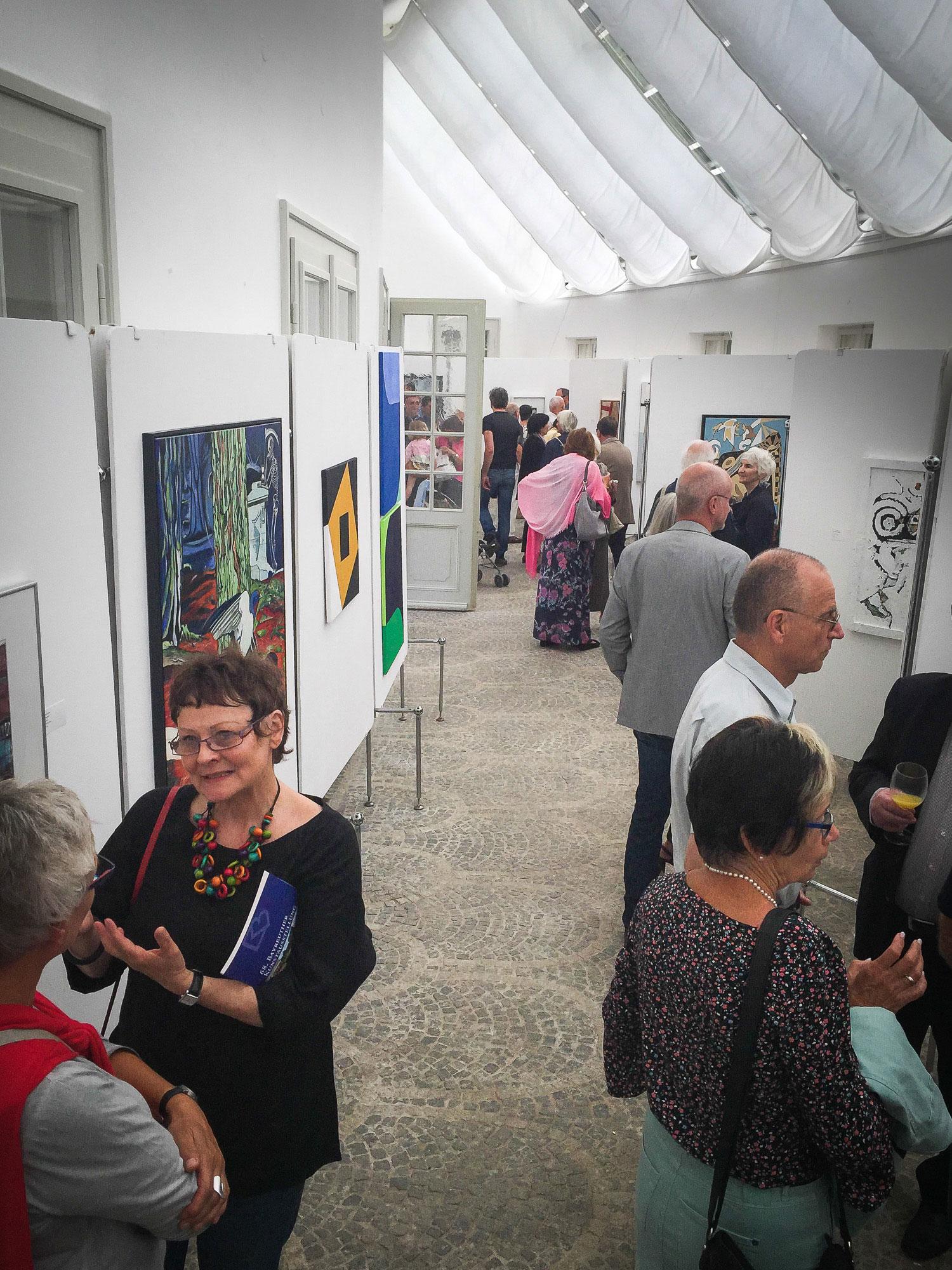 In der Bayreuther Kunstausstellung in der Eremitage Bayreuth 2018.