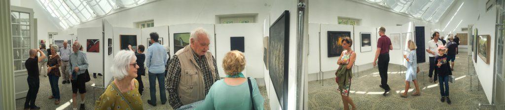 Blick in die Ausstellung im Neuem Schloss der Eremitage Bayreuth.